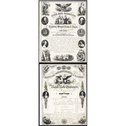 Rawdon, Wright, Hatch & Edson 1854 Dated Advertising Sheet.