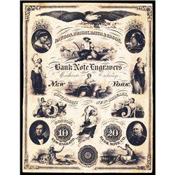 Rawdon, Wright, Hatch & Edson Bank Note Advertising Sheet.