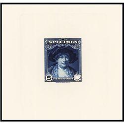 Rembrandt Sample Stamp Specimen Die Proof.