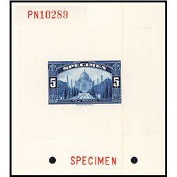 Taj Mahal Sample Stamp Specimen Die Proof.
