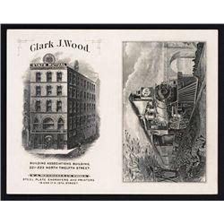 Clark J. Wood Advertising Card By Security BNC Predecessor - T.A. Bradley.