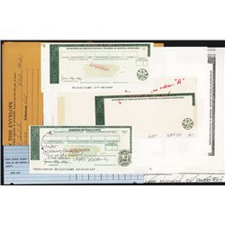 Puerto Rico Food Stamp and Check Specimen and Proof Production Material.