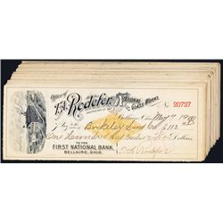T.A. Roclefer National Glass Works Issued Checks With RN-X7 Revenue Imprints.