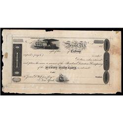 Mount Hope Bank 1820's Bill of Exchange.