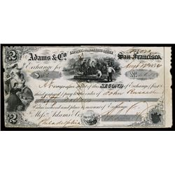 Adams & Co. Express and Banking Office, Sonora Location Instead of San Francisco, CA. Gold Rush Rela