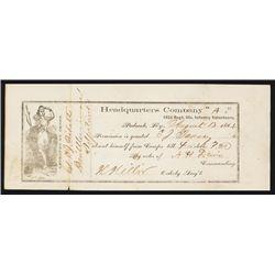Union Soldier Pass, 1864, 132d Regiment, Illinois Infantry Volunteers.