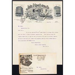 John P. Lovell Arms Co. 1896 Letterhead.