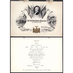 NY State Bankers' Association 1902 Dinner Program at the Waldorf Astoria.