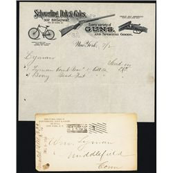 Schoverling, Daly & Gales, Gun Dealer Letterhead with Bicycle, Rifle and Shotgun.