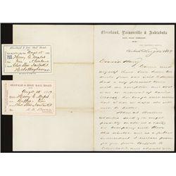 Railroad Passes and Correspondence on Railroad Letterhead.