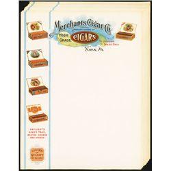 Merchants Cigar Co. Fancy Letterhead (15).
