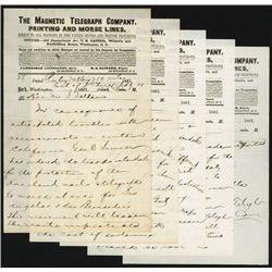 Historic Magnetic Telegraph Co. Civil War Telegraph To California Governor.