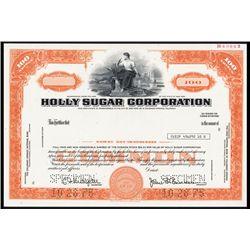 Holly Sugar Co. Specimen Stock.