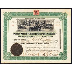 Demas Armor-Cased Tire Saving Co. Issued Stock.