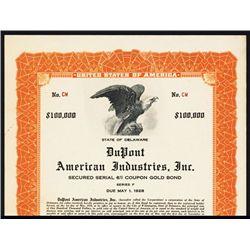 DuPont American Industries, Inc. Specimen Bond.