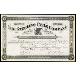 Sterling Cycle Co. Issued Stock.