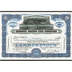 Hudson Motor Car Co. Specimen Stock.