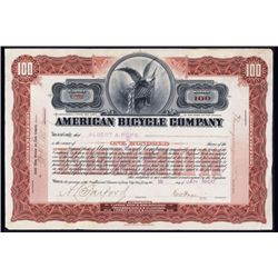American Bicycle Co. Issued Stock.