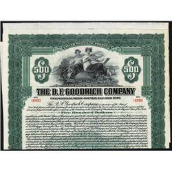B.F. Goodrich Co.1922 Specimen Bond, Tire Manufacturer.
