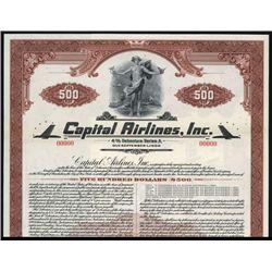 Capital Airlines, Inc. Specimen Bond.