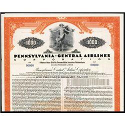 Pennsylvania Central Airlines Corp. Specimen Bond.