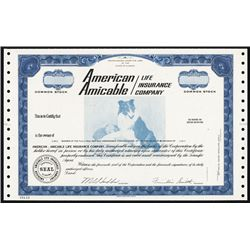 American Amicable Life Insurance Co. Specimen Stock.