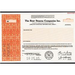 Bear Stearns Companies Inc. Specimen Stock.