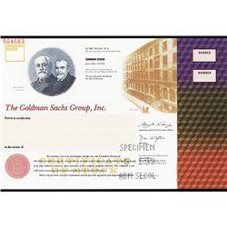 Goldman Sachs Group, Inc. Specimen Stock.