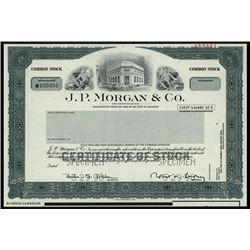 J.P. Morgan & Co. Specimen Stock.