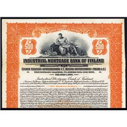 Industrial Mortgage Bank of Finland Specimen Bond.