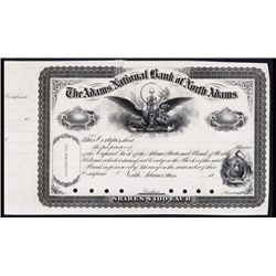 Adams National Bank of North Adams Specimen Stock.