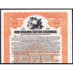 New Orleans Cotton Exchange Specimen Bond.