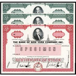Bank of New York Co. Specimen Stock.