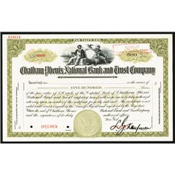 Chatham Phenix National Bank and Trust Co. Specimen Stock.