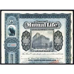 Mutual Life Insurance Co. Specimen Bond.