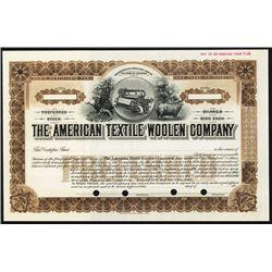 American Textile Woolen Co. Specimen Stock.
