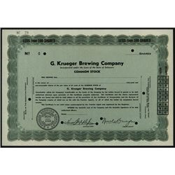 G. Krueger Brewing Co. Specimen Stock.