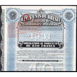Etats-Unis du Bresil Issued Bond - Speculative.