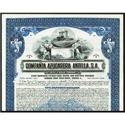 Antilla Sugar Co. Specimen Bond.