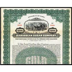 Caribbean Sugar Co., 1926, Specimen Bond.