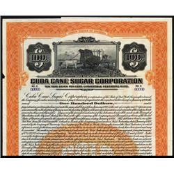 Cuba Cane Sugar Corp., 1920, Specimen Bond.