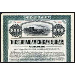 Cuban-American Sugar Co. 1907 Specimen Bond.