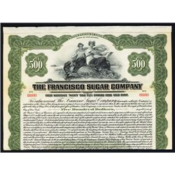 Francisco Sugar Co. 1922 Specimen Bond.