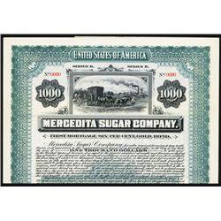 Mercedita Sugar Co. Specimen Bond.