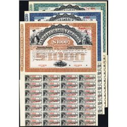 Banco Comercial Y Agricola Specimen Bonds Lot of 3.