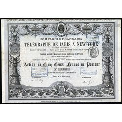 Telegraphe De Paris A New-York Issued Bond.