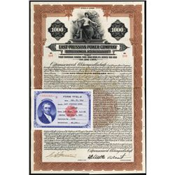 East Prussian Power Co., 1928, Issued Bond.