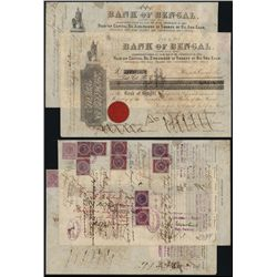 Bank of Bengal Issued Stock Lot of 2.