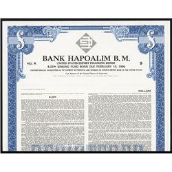 Bank Hapoalim B.M. Specimen Bond.