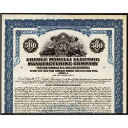 Ercole Marelli Electric Manufacturing Co. Specimen Bond.